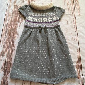 Gymboree girls holiday sweater dress-gray-size 4